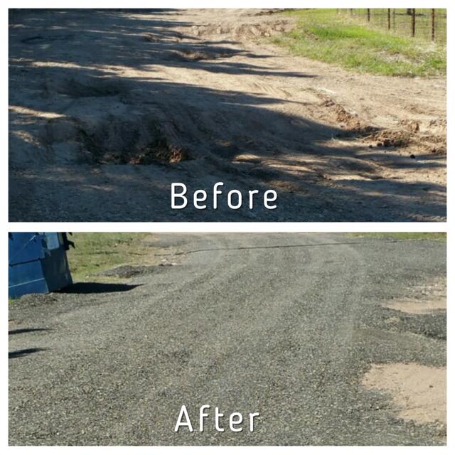 dirt road repair millings