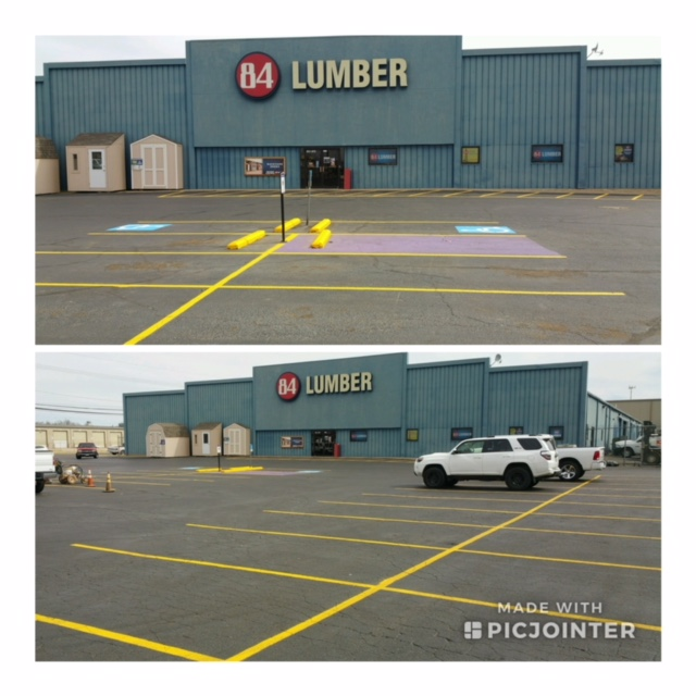 parking lot restriping