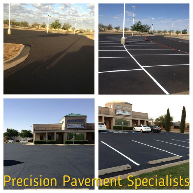 commercial seal coat and striping
