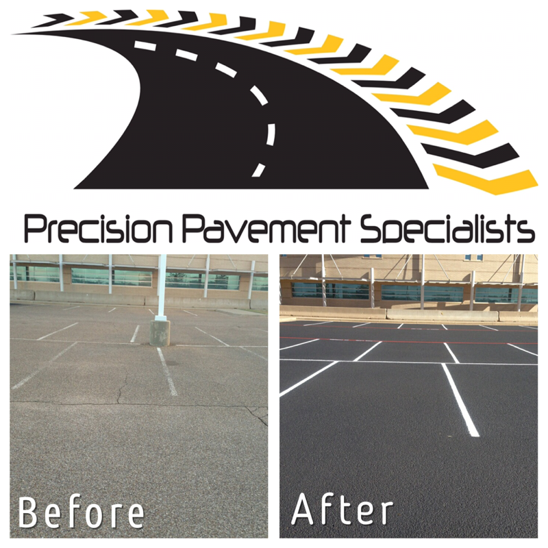 parking lot seal coat and striping