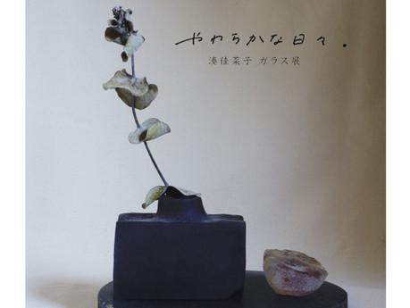 湊 佳菜子ガラス展 「やわらかな日々.」 10/23(金)~27(火)