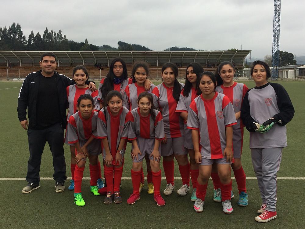 Equipo de futbol damas sub 14, 2017