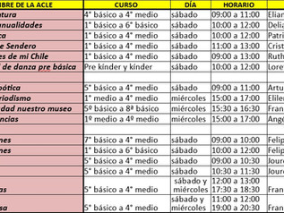 Horario ACLES