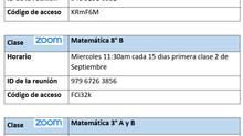 Clases Matemáticas - Zoom