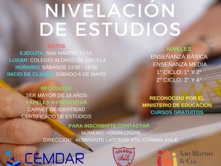 Programa de Nivelación de Estudios.