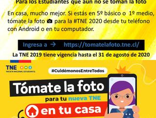 Recordatorio - Información TNE