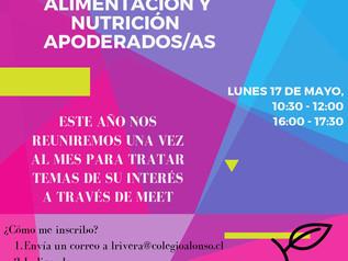 Talleres de nutrición para apoderados, profesores y asistentes de la educación
