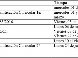 Fechas relevantes Calendario Escolar