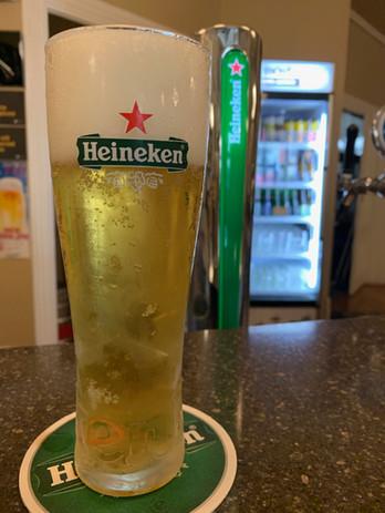 Heineken beer on tap