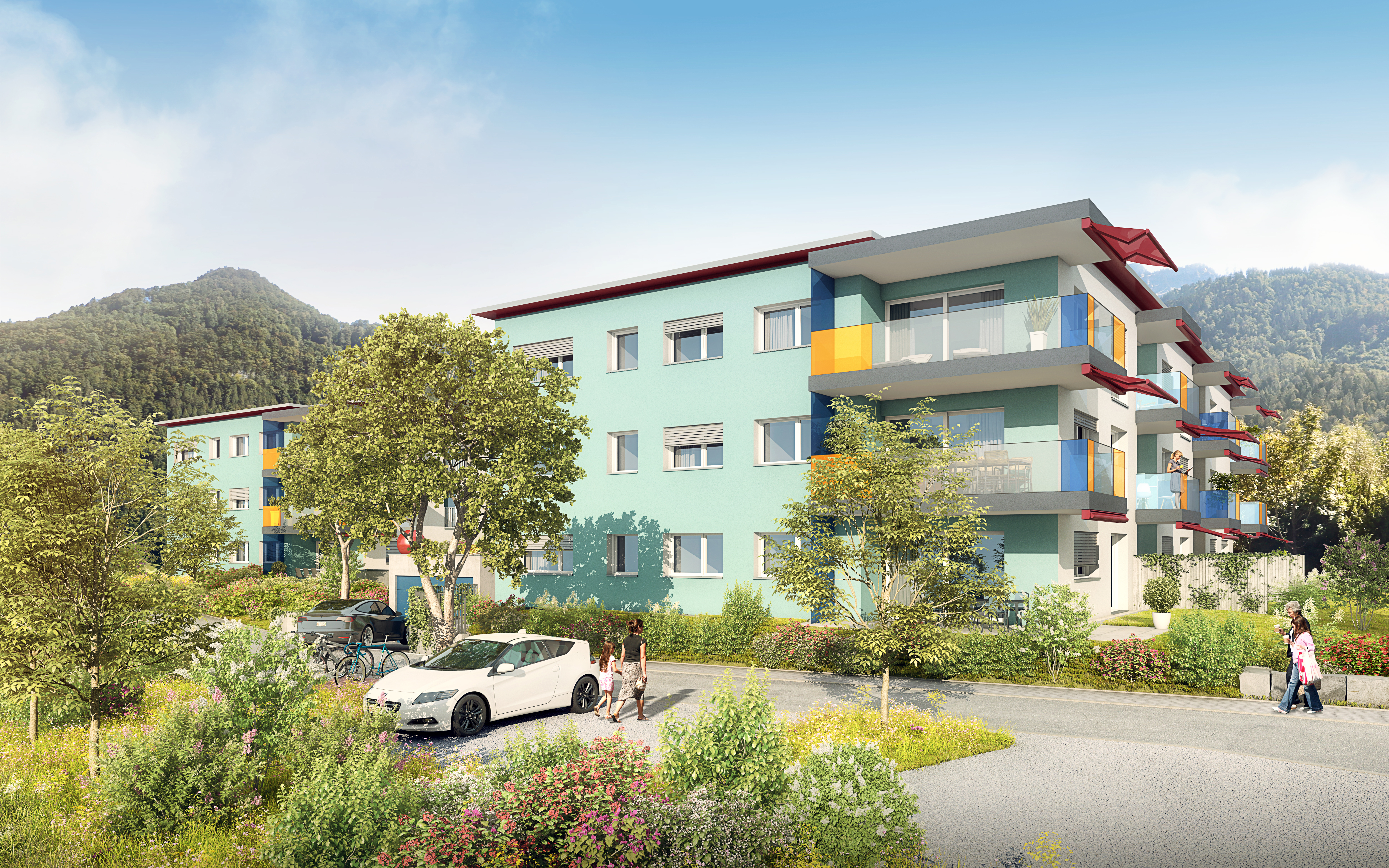 Rüteli Mollis Wohnüberbauung