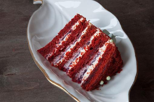 Торт Красный бархат разрез