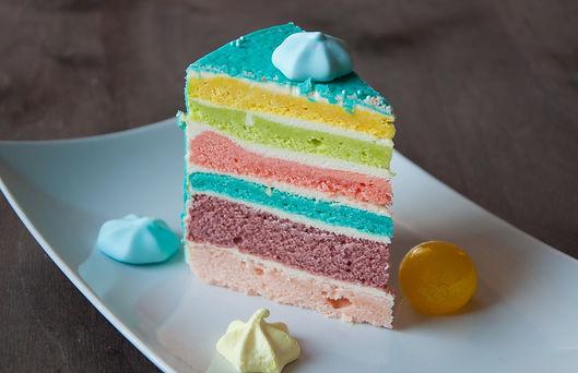 Торт Радужный бисквит разрез