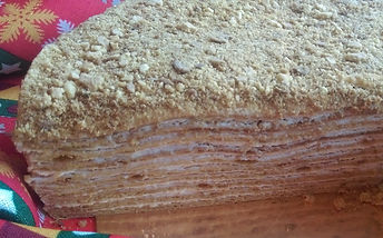 Торт Рыжик разрез