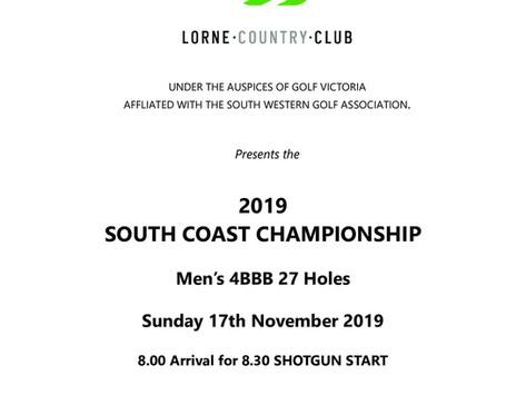 Lorne South Coast 4BBB Championship