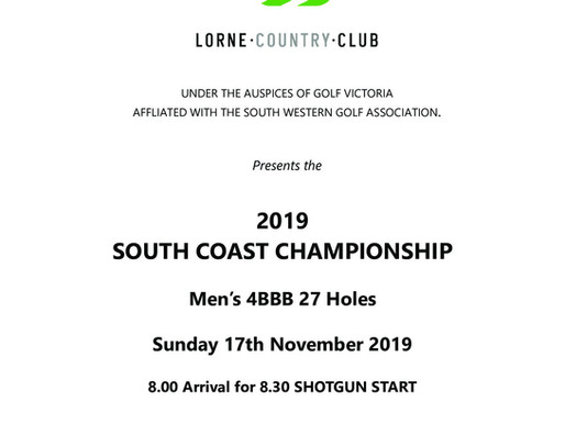 Lorne South Coast 4BBB Championship