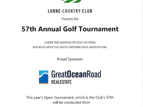 Lorne Open Tournament Entries now open