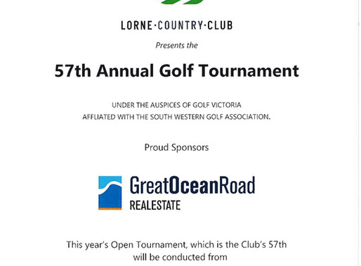Lorne Open Tournament Entries now open