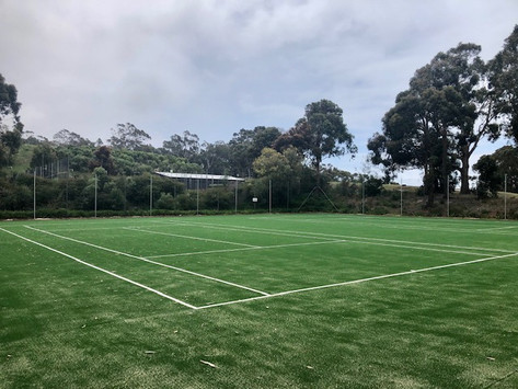 Tennis courts nearly done!!