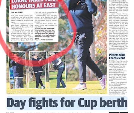 Golf stars one day - Media stars the next!!!