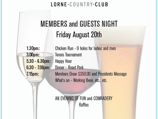 Members and guests night!