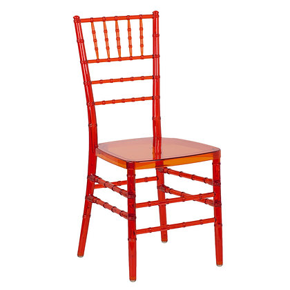 PC Chiavari chair -Transparent Red
