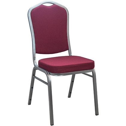 Burgundy Crown Back Stackable Banquet Chair - Silver Vein (BC-1001)