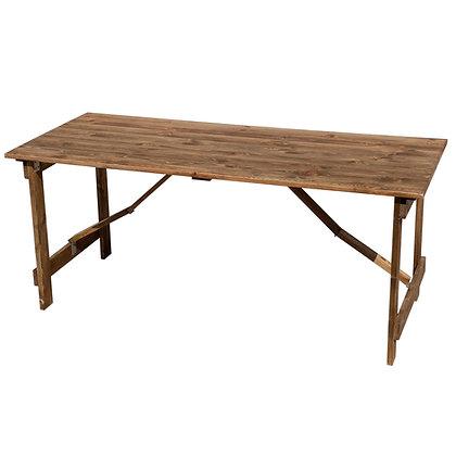 Wood Farm Folding Table - FAFT-F7 (183*76cm)