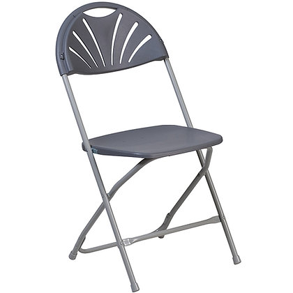 Plastic Folding Chair Gray Frame Charcoal Shell (SZ-6506)