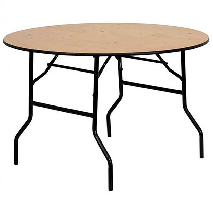 4ft 6in. Round Wood Folding Banquet Tables - FTWR54 (137cm)
