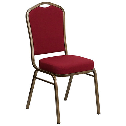 Crown Back Stacking Banquet Chair  - Gold Vein Frame