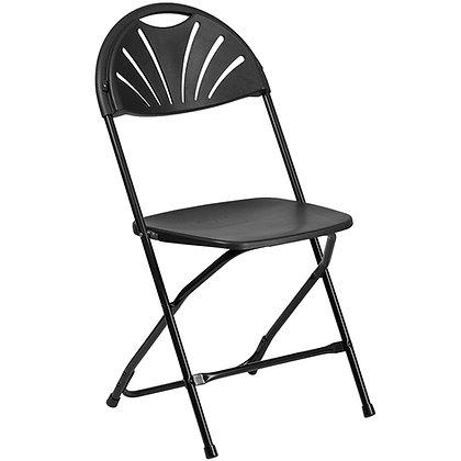 Plastic Folding Chair Black Frame Black Shell (SZ-6506)