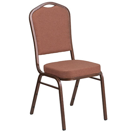Crown Back Stacking Banquet Chair - Copper Vein Frame (BC-1001)