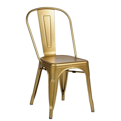 Tolix Style Metal Stacking Chair - Gold