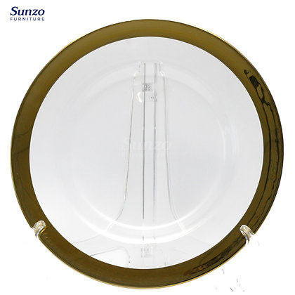 Wedding Glass  Clear Transparent Charge Plates SZ-3002CG