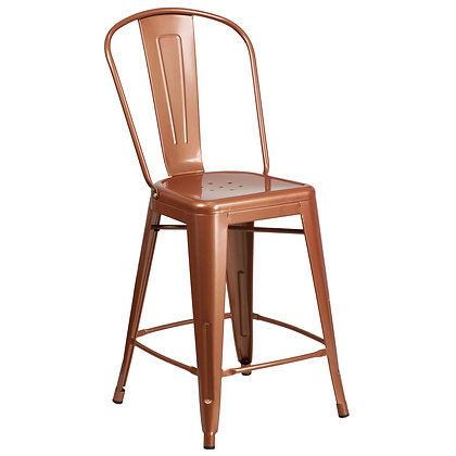 """24""""High Counter Height Stool Tolix Style - Copper"""