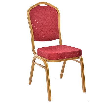 Crown Back Stacking Banquet Chair - Gold Vein Frame (BC-1001)