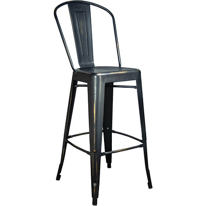 """30""""High Counter Height Stool Tolix Style - Matte black"""