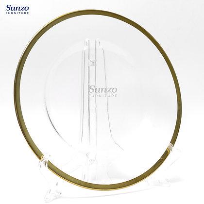 Wedding Glass  Clear Transparent Charge Plates SZ-3002BG