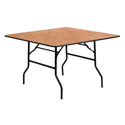 Square Wooden Banqueting Table - 4ft (122cm)