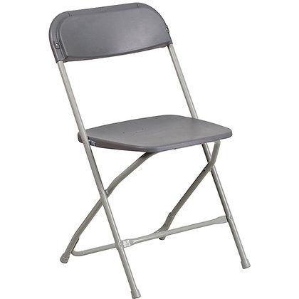 Grey Iron Tube Plastic Folding Chair (SZ-6505)