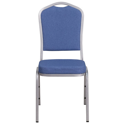 Crown Back Stacking Banquet Chair - Silver Vein Frame (BC-1001)