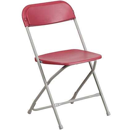 Red Iron Tube Plastic Folding Chair (SZ-6505)