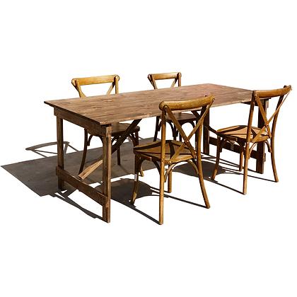 Wood Farm Folding Table And Chair - FAFT-F7