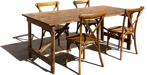 Wood Farm Folding Table And Chair - FAFT-F7 (183*91cm)