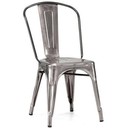 Tolix Style Metal Stacking Chair - Gunmetal