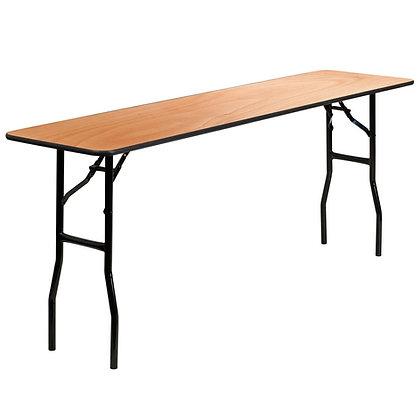 Rectangle Wooden Trestle Table - 6ft x 1ft 6in (183cm x 46cm)