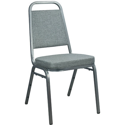 Trapezoidal Back Stacking Banquet Chair - Silver Frame (BC-1002)