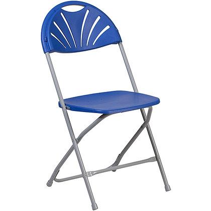 Plastic Folding Chair Grey Frame Blue Shell (SZ-6506)