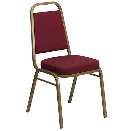 Trapezoidal Back Stacking Banquet Chair - Gold Frame (BC-1002)
