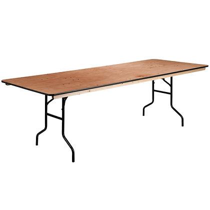 Rectangular Wooden Trestle Table - 4ft x 2ft 6in (122cm x 76cm)